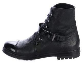 Chanel Cap-Toe CC Ankle Boots