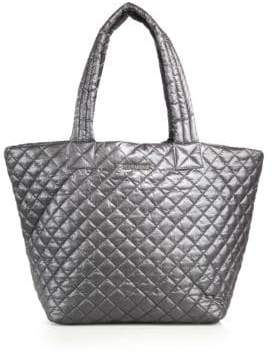 MZ Wallace Large Metro Metallic Quilted Nylon Tote