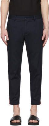 Dolce & Gabbana Blue Side Stripe Trousers