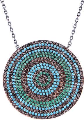 GABIRIELLE JEWELRY Oxidized Silver Cz Necklace