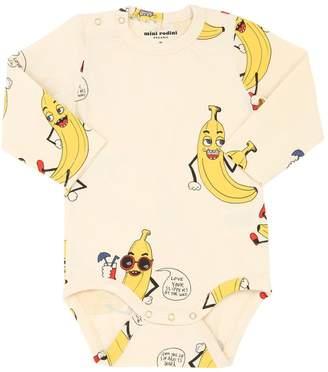 Mini Rodini Banana Print Organic Cotton Bodysuit