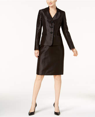 Le Suit Shimmer Skirt Suit