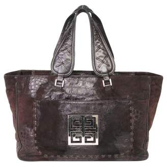 Givenchy Tote Bag In Leather With A Crocodile Effect And Suede