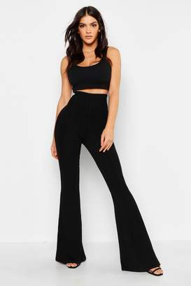 boohoo Bandage Flared Trousers
