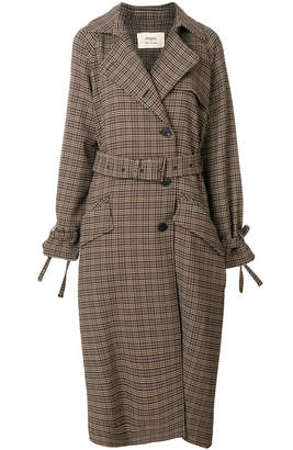 Ports 1961 plaid trench coat