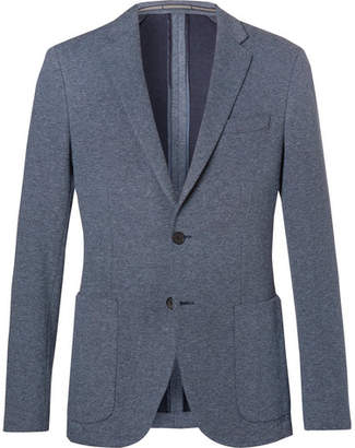 HUGO BOSS Light-Blue Newon Cotton-Jersey Blazer