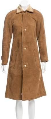 Ralph Lauren Black Label Shearling Long Coat
