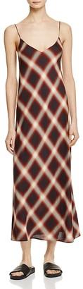Vince Plaid Slip Dress $345 thestylecure.com