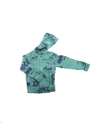 Monrow Kids Green Hawaiian Zip Hoody