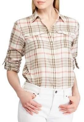 Lauren Ralph Lauren Petite Plaid Button-Up Shirt