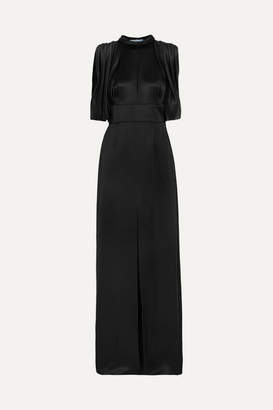 Prada Draped Satin Gown - Black