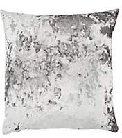 Aviva Stanoff Crushed Velvet Pillow - Silver