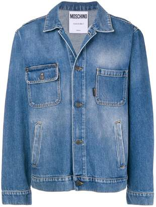 Moschino asymmetrical pocket denim jacket