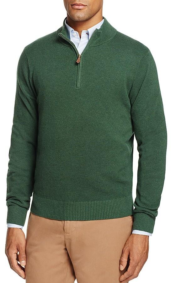 Brooks Brothers Brooks Brothers Textured Half-Zip Sweater