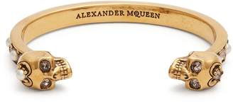 Alexander McQueen Embellished-skull cuff