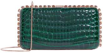 Analeena Large Crocodile Crystal Clutch