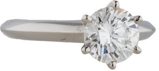Tiffany & Co. Solitaire Diamond Engagement Ring $14,695 thestylecure.com