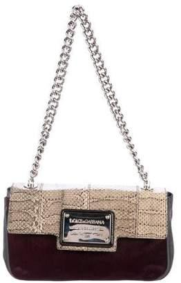 Dolce & Gabbana Eel, Snakeskin & Ponyhair Miss Sexy Bag
