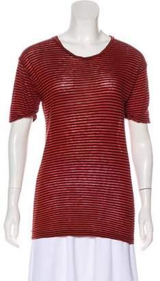 Etoile Isabel Marant Linen-Blend Striped T-Shirt
