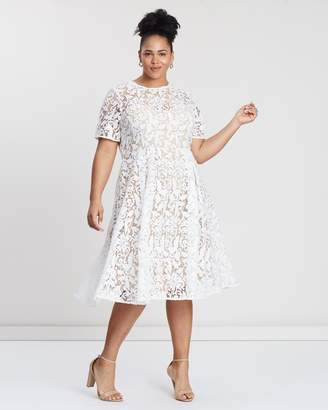 Cooper St CS CURVY Snapdragon Fit-and-Flare Lace Dress