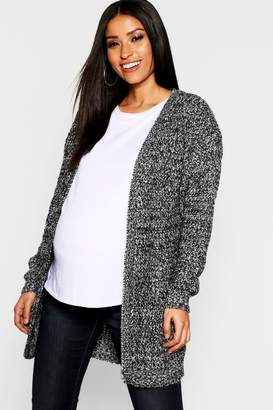 boohoo Maternity Long Edge To Edge Maxi Cardigan
