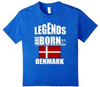 Legends Are Born In Denmark- Cute Funny Saying Gift Shirt