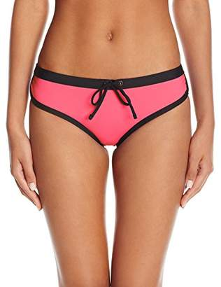 Kenneth Cole Reaction Women's On The Edge Cheeky Boyshort Bikini Bottom With Drawstring Waist