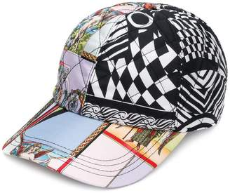Versace quilted multi-pattern baseball cap