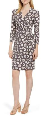 Anne Klein Floral Faux Wrap Dress