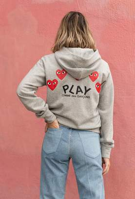 Comme des Garcons Women's Play Red Heart Sweatshirt