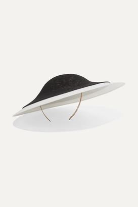 Philip Treacy Two-tone Sinamay Straw Hat - Black