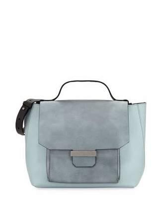 Brunello Cucinelli Mix Metallic Leather Top Handle Bag