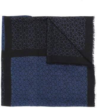 Calvin Klein two tone monogram scarf