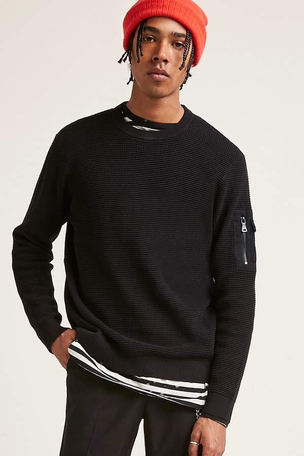 21 MEN Waffle Knit Sweater