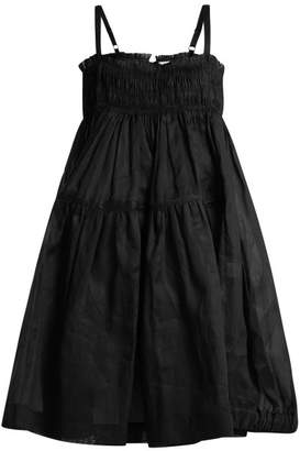 Molly Goddard - Honor Cotton Smocked Dress - Womens - Black