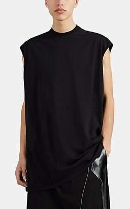 Rick Owens Men's Tarp Cotton Oversized Sleeveless T-Shirt - Black