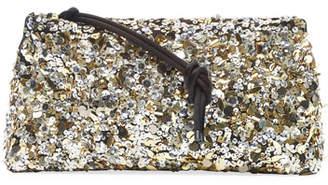 Dries Van Noten Sequin Zip-Top Clutch Bag