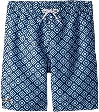 Toobydoo Multi Blue Patterned Swim Shorts Boy's Swimwear