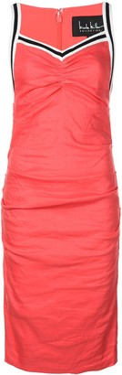 Nicole Miller ribbed tuck dress