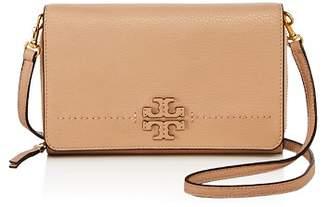 Tory Burch McGraw Flat Leather Wallet Crossbody