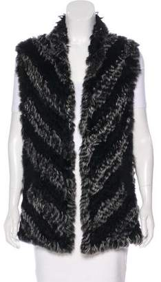 Marc by Marc Jacobs Wool Fur-Accented Vest