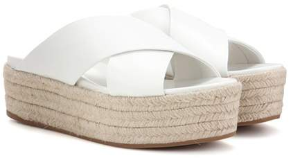 Miu Miu Leather platform sandals