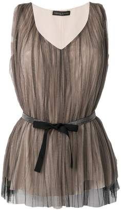 Fabiana Filippi belted pleated tunic