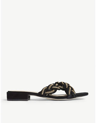Sandro Crossover leather sandals