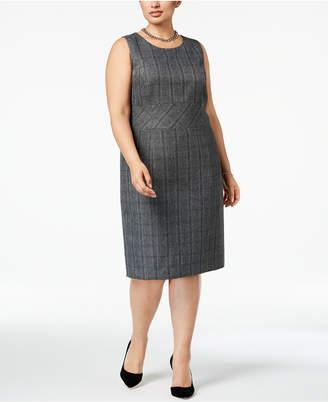 Kasper Plus Size Plaid Sheath Dress