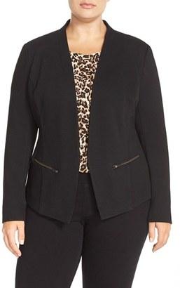 Plus Size Women's Sejour 'Jetsetter' Ottoman Knit Jacket $129 thestylecure.com