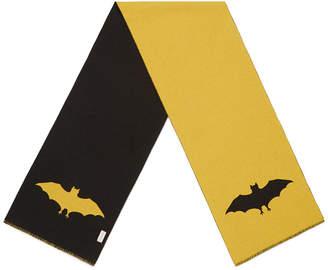 scarf with bat jacquard