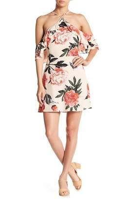 En Creme The Room by Ark Co Floral Cold Shoulder Dress