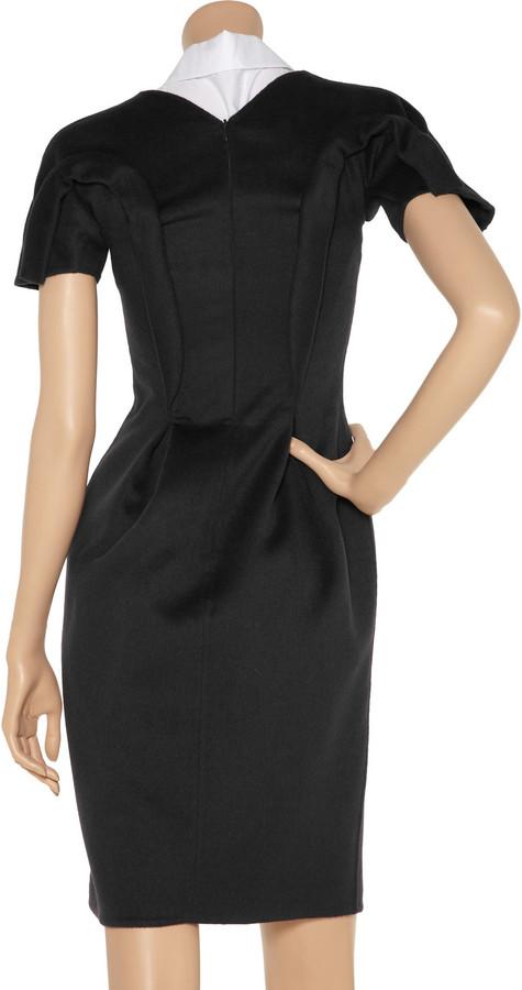 Jil Sander Textured wool-blend dress
