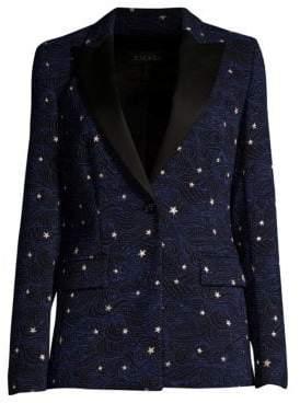 Escada Brekka Starry Night One-Button Jacket